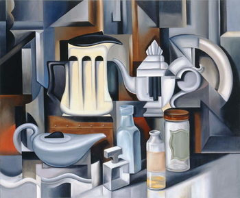 Still Life with Teapots Kunsttryk