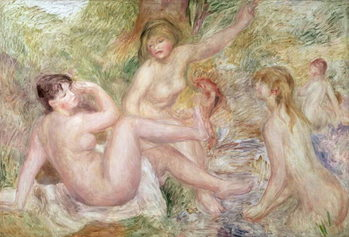 Study for the Large Bathers, 1885-1901 Kunstdruk