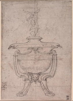 Study of a decorative urn Kunsttryk