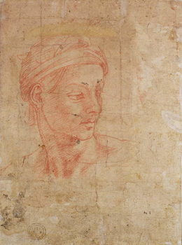Study of a Head Kunsttryk