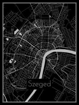 Stadtkarte von Szeged