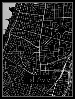 Mapa de Tel Aviv