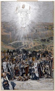 The Ascension from the Mount of Olives, illustration for 'The Life of Christ', c.1884-96 Kunsttryk