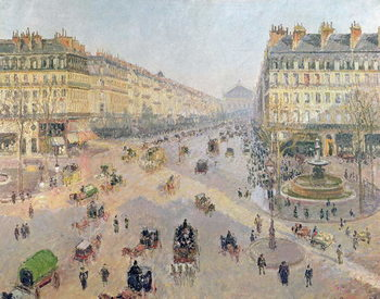 Reproducción de arte The Avenue de L'Opera, Paris, Sunlight, Winter Morning, c.1880
