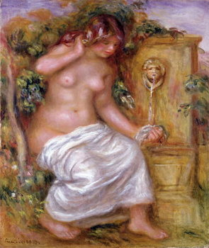 Reproducción de arte The Bather at the Fountain, 1914