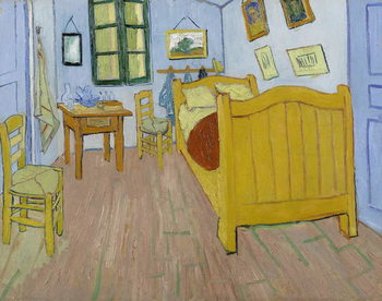 The Bedroom, 1888 Kunstdruk