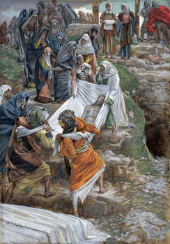 The Body of Jesus Carried to the Anointing Stone, illustration for 'The Life of Christ', c.1886-94 Reproduction de Tableau