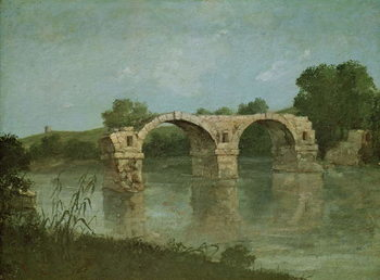 The Bridge at Ambrussum Reproduction de Tableau