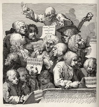 Reproducción de arte The Chorus, from 'The Works of William Hogarth', published 1833