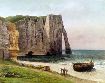 The Cliffs at Etretat, 1869 Kunsttryk