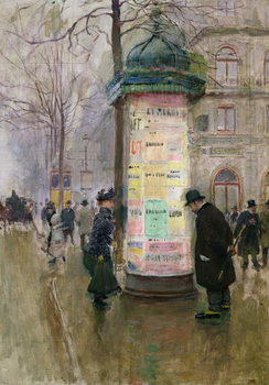 The Colonne Morris, c.1885 Reproduction de Tableau