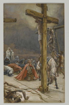 The Confession of Saint Longinus, illustration from 'The Life of Our Lord Jesus Christ', 1886-94 Reproduction de Tableau