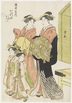 The Courtesan Katsuyama of the Echizenya House Kunstdruk