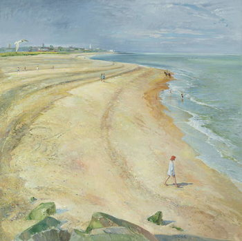 The Curving Beach, Southwold, 1997 Kunsttryk