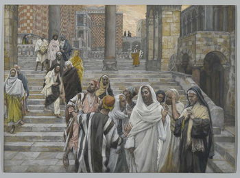 The Disciples Admire the Buildings of the Temple, illustration from 'The Life of Our Lord Jesus Christ', 1886-94 Reproduction de Tableau