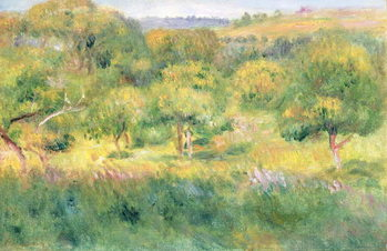 The edge of a forest in Brittany, 1893 Reproduction de Tableau
