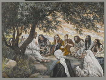 The Exhortation to the Apostles, illustration from 'The Life of Our Lord Jesus Christ' Reproduction de Tableau