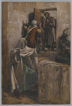 The First Denial of Saint Peter, illustration from 'The Life of Our Lord Jesus Christ', 1886-94 Kunstdruk