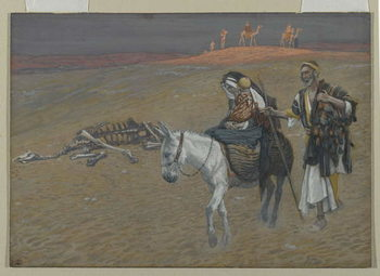 The Flight into Egypt, illustration from 'The Life of Our Lord Jesus Christ' Kunsttryk