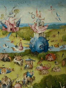 The Garden of Earthly Delights, 1490-1500 Kunsttryk