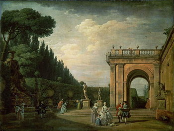 The Gardens of the Villa Ludovisi, Rome, 1749 Kunstdruck