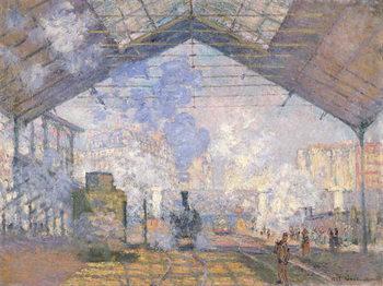 The Gare St. Lazare, 1877 Kunsttryk