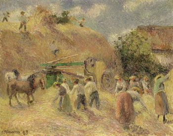 Reproducción de arte The Harvest, 1883