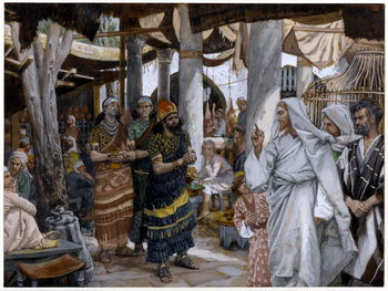 The Healing of the Ruler's Son, illustration for 'The Life of Christ', c.1884-96 Reproduction de Tableau