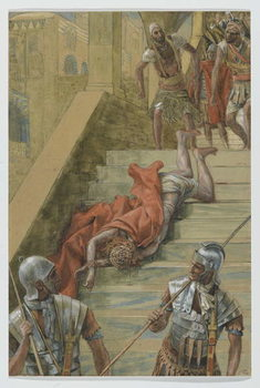 The Holy Stair, illustration from 'The Life of Our Lord Jesus Christ', 1886-94 Reproduction de Tableau