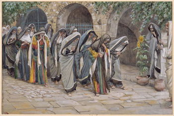 The Holy Women, illustration for 'The Life of Christ', c.1886-94 Reproduction de Tableau