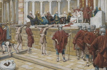 Reproducción de arte The Judgement on the Gabbatha, illustration from 'The Life of Our Lord Jesus Christ', 1886-94