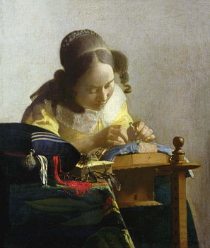 The Lacemaker, 1669-70 Reproduction de Tableau