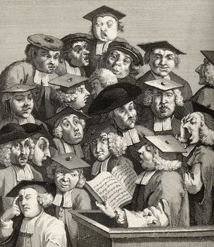 The Lecture, from 'The Works of William Hogarth', published 1833 Kunsttryk
