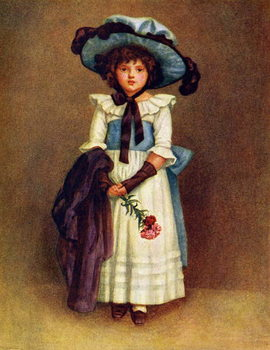 'The little model'  by Kate Greenaway. Reproduction de Tableau