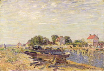 The Loing at Saint-Mammes, 1885 Reproduction de Tableau