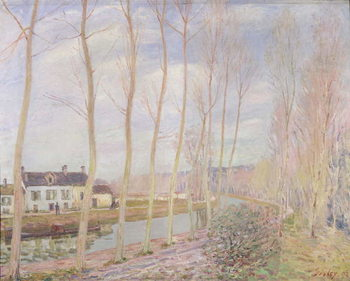 The Loing Canal, 1892 Reproduction de Tableau