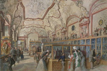 The Marble Hall of the Ambraser Gallery in the Lower Belvedere, Vienna, 1876 Obrazová reprodukcia