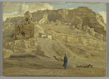 The Mokattam from the Citadel of Cairo, illustration from 'The Life of Our Lord Jesus Christ' Kunsttryk