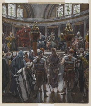 The Morning Judgement, illustration from 'The Life of Our Lord Jesus Christ', 1886-94 Kunsttryk