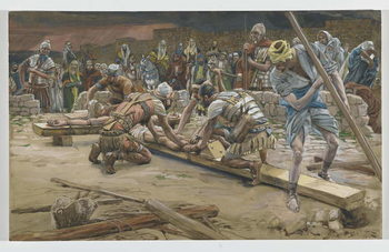 Reproducción de arte The nail for the Feet, illustration from 'The Life of Our Lord Jesus Christ', 1886-94