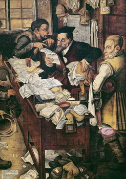 The Payment of the Yearly Dues (oil on panel) Kunstdruck