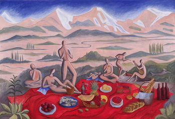 The Picnic, 1992 Reproduction de Tableau