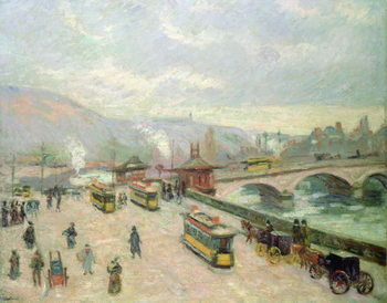 The Pont Corneille at Rouen, 1898 Reproduction de Tableau