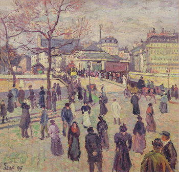 The Pont de l'Archeveche, 1897 Reproduction de Tableau