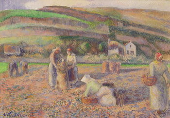 The Potato Harvest, 1886 Kunsttryk