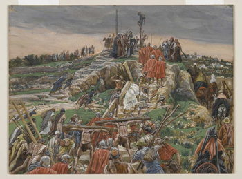 The Procession nearing Calvary, illustration from 'The Life of Our Lord Jesus Christ', 1886-94 Kunstdruk
