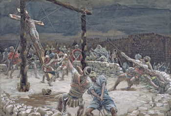 Reproducción de arte The Raising of the Cross, illustration for 'The Life of Christ', c.1886-94