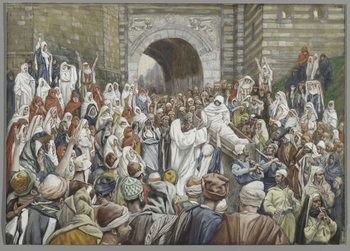 Reproducción de arte The Resurrection of the Widow's Son at Nain, illustration from 'The Life of Our Lord Jesus Christ'