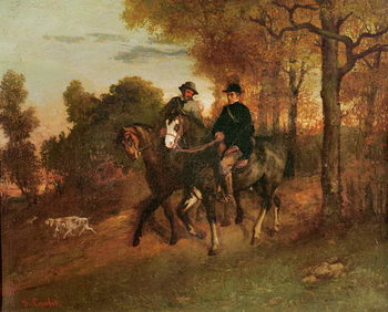 The Return from the Hunt, 1857 Kunstdruk