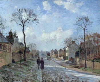 Reproducción de arte The Road to Louveciennes, 1872